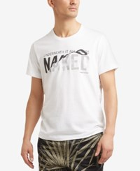Kenneth Cole New York Men's Graphic Print T Shirt White