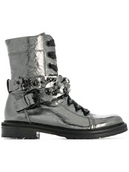 Kennel Schmenger And Ankle Lace Up Boots Metallic