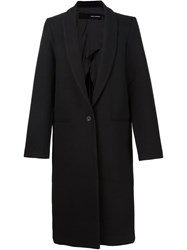 Isabel Benenato Boxy Long Line Coat Black