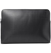 Loewe Goya Embossed Cross Grain Leather Portfolio Black