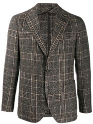 Tagliatore Plaid Single Breasted Blazer 60
