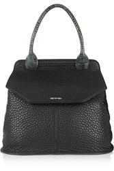 Mcq By Alexander Mcqueen Ruin Elaphe Trimmed Textured Leather Tote