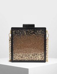 Charles And Keith Snow Globe Effect Clutch Black