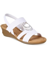 Impo Geanna Wedge Sandals Women's Shoes White