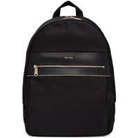 Paul Smith Black Multistripe Backpack