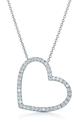 Kwiat Large Silhouette Diamond Necklace White Gold