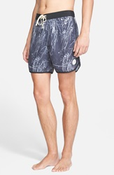 Saturdays Surf Nyc 'Logan' Print Board Shorts Black