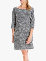 Max Studio Tweed Dress Black Ivory
