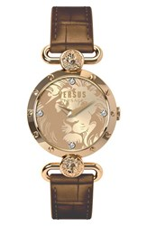 Women's Versus By Versace 'Sunnyridge' Leather Strap Watch 34Mm