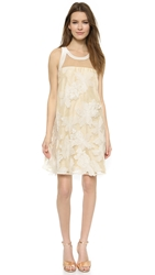 Rebecca Taylor Floral Organza Dress Canvas Cream