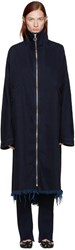 Marques Almeida Indigo Denim Long Jacket