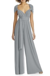 Dessy Collection Women's Convertible Wide Leg Jersey Jumpsuit Monument