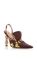 Rosie Assoulin High Heel Slingback Loafer Brown