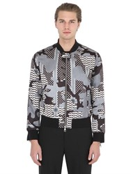 Neil Barrett Printed Nylon Bomber Jacket