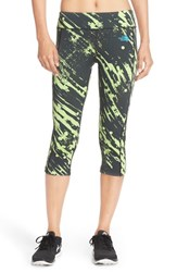 The North Face Women's 'Pulse' Compression Capri Tights Spruce Green Paintball Print
