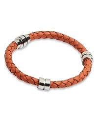 Ted Baker Barranz Thick Leather Bracelet Orange