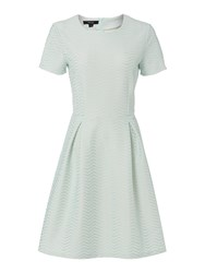 Therapy Wave Bonded Fit And Flare Dress Mint