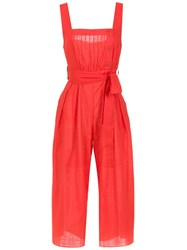 Clube Bossa Belted Ascari Jumpsuit Red