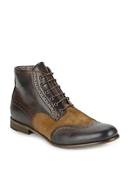 Robert Graham Brogue Detailed Boots Dark Brown