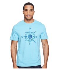 Life Is Good Compass Painted Crusher Tee Bleached Blue Men's T Shirt