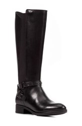 Geox Felicity Abx Waterproof Knee High Riding Boot Black Leather