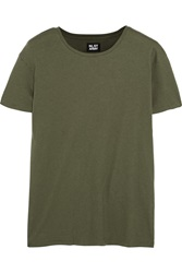 Nlst Classic Brushed Cotton And Cashmere Blend T Shirt