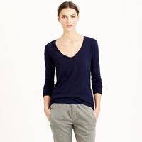 J.Crew Vintage Cotton Long Sleeve Scoopneck Tee