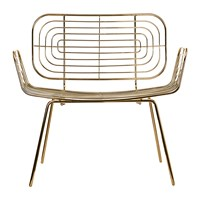 Pols Potten Boston Lounge Chair Gold