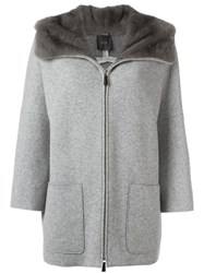Agnona Zipped Coat Grey