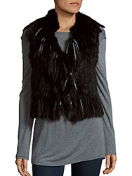 Haute Hippie Rabbit Fur Vest Black