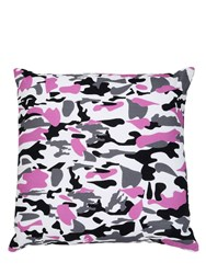 Adolfo Carrara Camouflage Printed Cotton Canvas Pillow