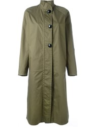 Christophe Lemaire Lemaire Stand Collar Coat Green