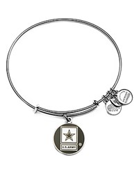 Alex And Ani Us Army Expandable Wire Bangle Silver