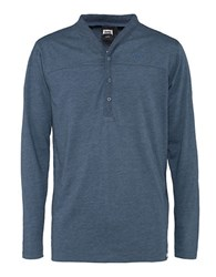 Jeep Long Sleeve Henley Top Blue