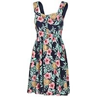 Fat Face Hemsley Pineapple Punch Dress Navy