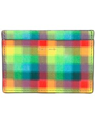 Paul Smith Checked Print Wallet Men Calf Leather One Size