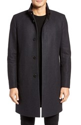 Theory Men's 'Belvin' Wool Blend Car Coat Dark Charcoal
