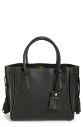 Longchamp 'Small Penelope' Leather Tote Black