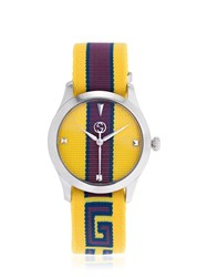 Gucci 38Mm G Timeless Limited Edition Watch Yellow Purple