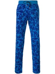 Versace Baroque Track Pants Blue