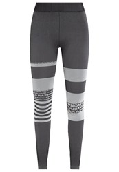 Reebok Tights Coal Anthracite