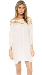 Anna Kosturova Marrakesh Off Shoulder Dress Cream