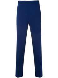 Z Zegna Elasticated Waist Trousers Blue
