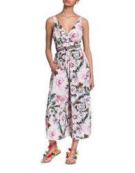 Plenty By Tracy Reese Sleeveless Flared Leg Jumpsuit Pink