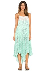 6 Shore Road Southbay Lace Cover Up Dress Green