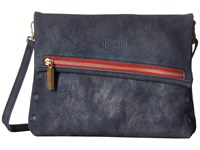 Hammitt Vip Embossed Sky Brushed Gold Red Handbags Blue