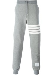 Thom Browne 4 Bar Stripe Sweatpants Grey