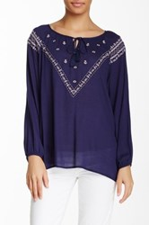 Blvd Embroidered Blouse Blue