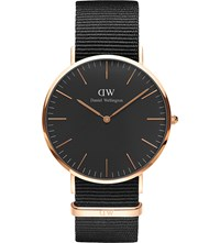 Daniel Wellington Classic Black Cornwall Nato Strap Stainless Steel Watch