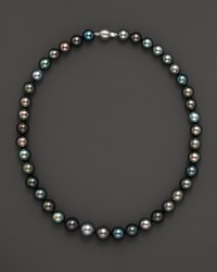 Bloomingdale's Tahitian Pearl And 14K White Gold Strand Necklace No Color